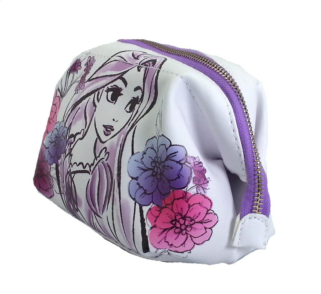DISNEY PRINCESS RAPUNZEL PURPLE COSMETIC POUCH * W19xH13xD9(CM)