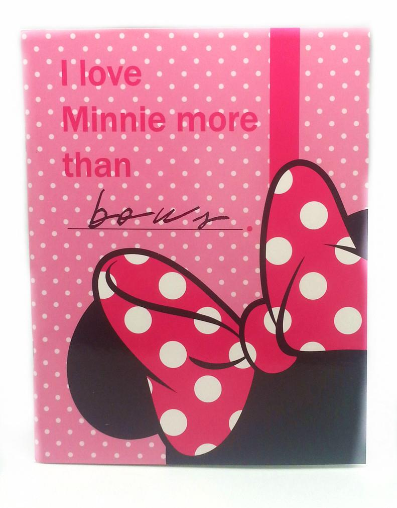 DISNEY RETRO MINNIE MOUSE BOW EXERCISE BOOK - Genuine licensed