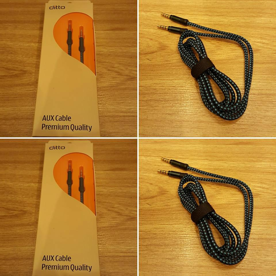 Ditto 1.5 Meter Nylon Premium Quality Aux / Audio Cable (NO GST)