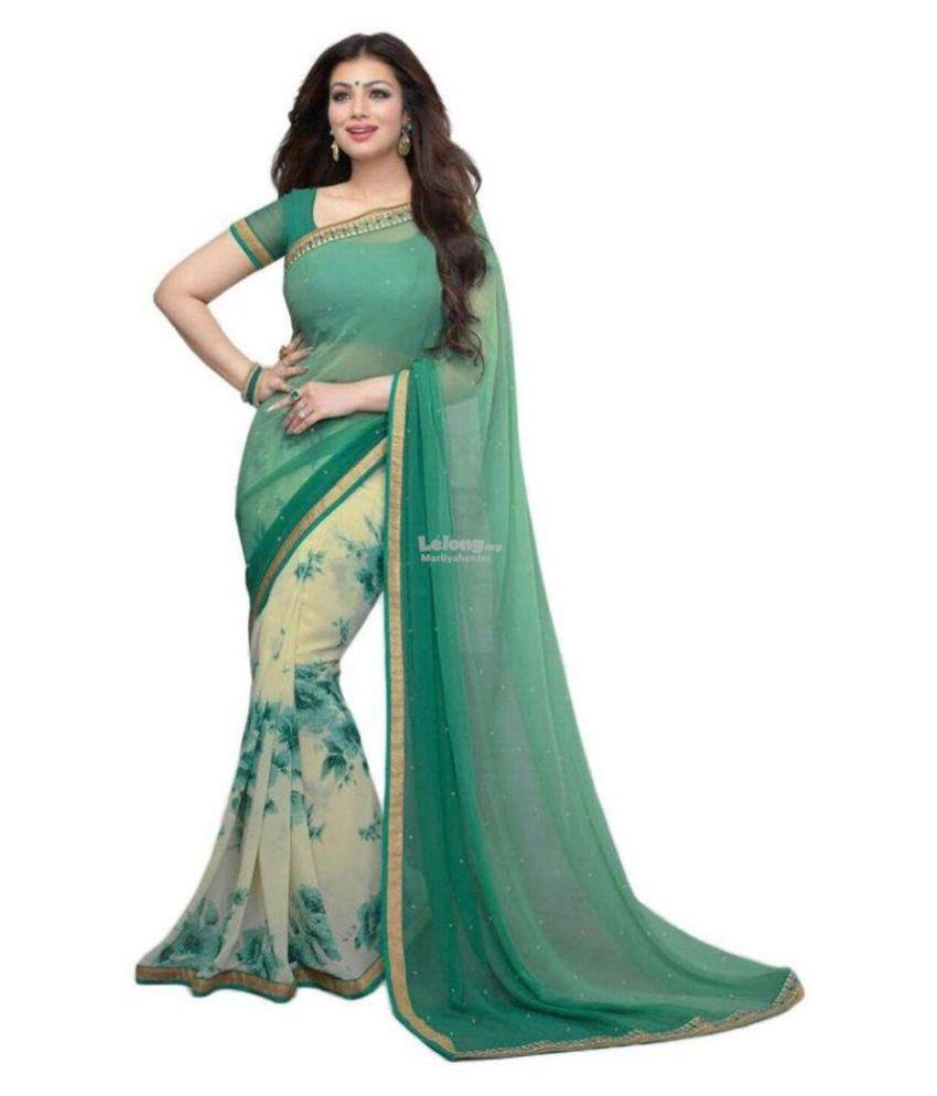 Diwali Special Multicoloured Georgette Saree
