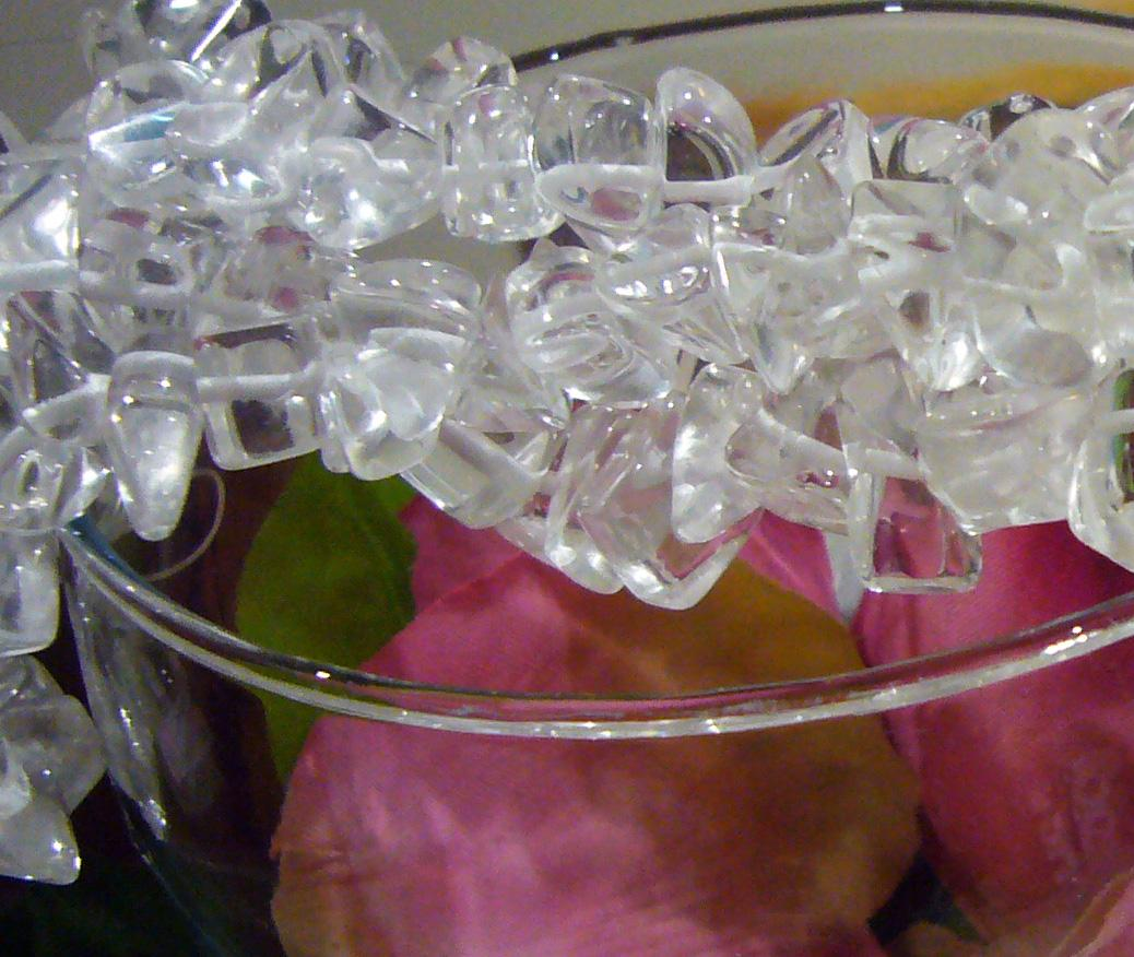 "DIY 36"" Clear Quartz Gemstone Large Chips 10mm - 20mm"