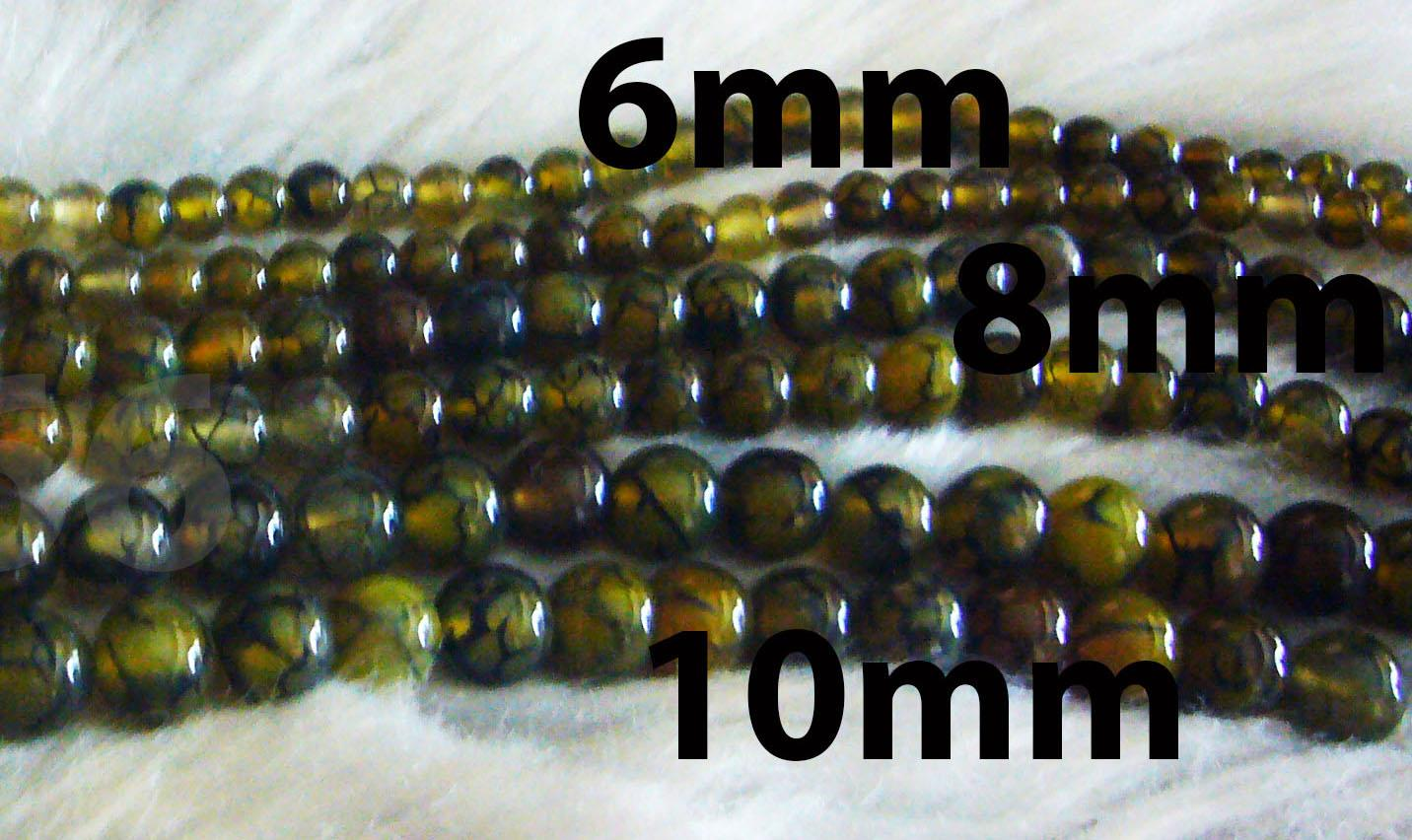 DIY Gold Yellow Agate 6mm 8mm 10mm Gemstone Smooth Round Gemstones 15""