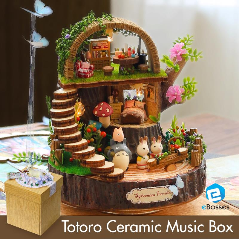 DIY house fantasy forest handmade assemble model creative gift