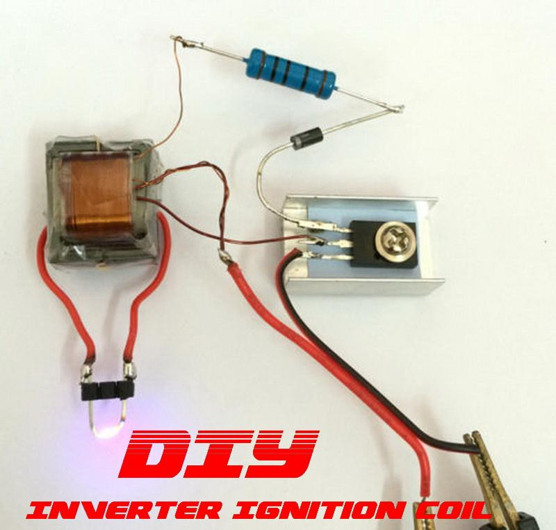 DIY ~ Inverter Arc Ignition Coil Cigarette Lighter Voltage Generator