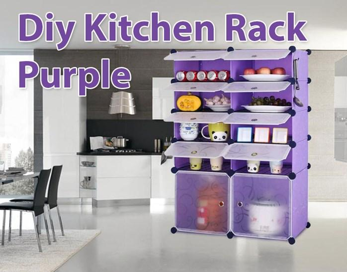 DIY KITCHEN RACK PURPLE