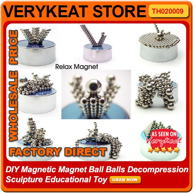 DIY Magnetic Magnet Ball Balls Decompression Sculpture Educational Toy