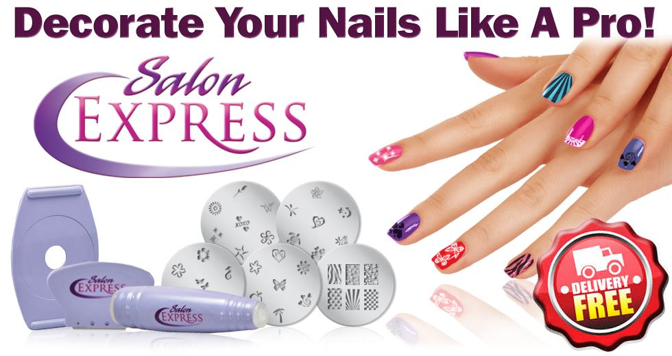 DIY Nail Art Decoration Kit! Salon Express Easy pedicure manicure