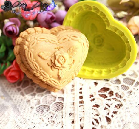 DIY Soap Silicone Mould Love Shape Flower