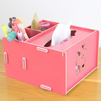 DIY Wooden Tissue Box Organizer Storage