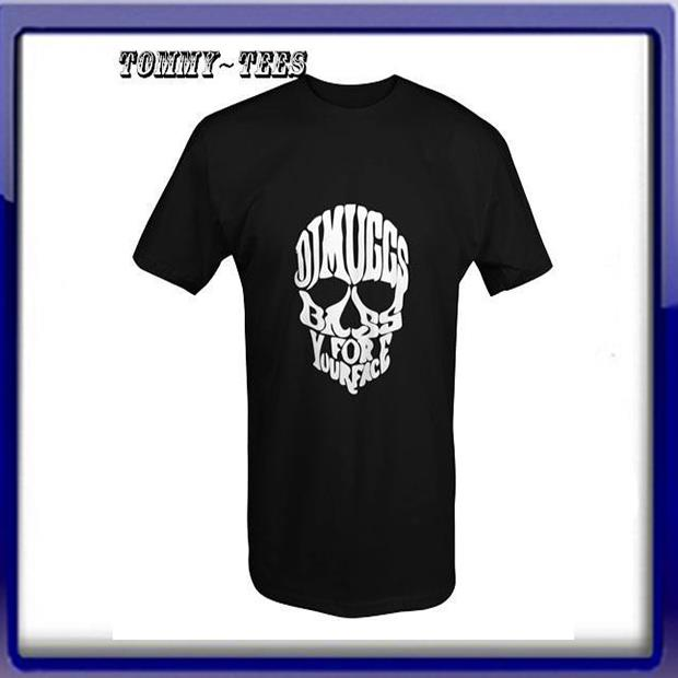 DJ SKULL T -SHIRT WHITE/RED/BLACK (TO6)