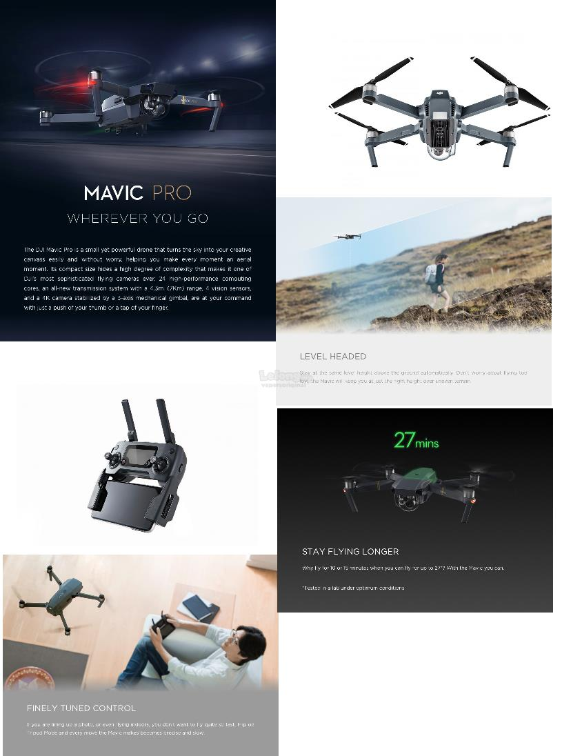 DJI MAVIC PRO FLY MORE COMBO(3 BATTERIES) - IN STOCK