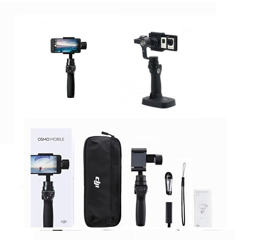 DJI Osmo Mobile Black Handheld Stabilized for Smartphones & GoPro 5