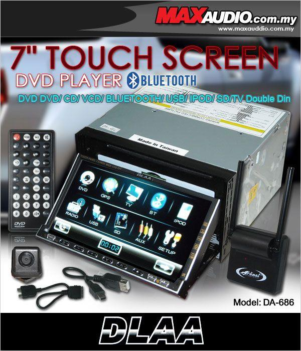 "DLAA PRO DA-686 7"" Full HD Motorized Double Din DVD USB SD TV Player"