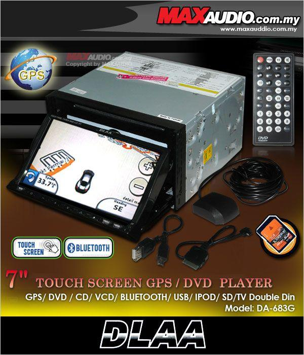 DLAA ULTIMATE DA-683G 7.1' Double Din DVD/B.T/IPOD In-Built GPS Navi