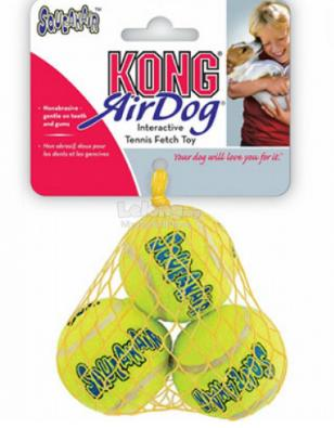 Dog Toy : Kong Air Dog Tennis Ball Small (Pack of 3)