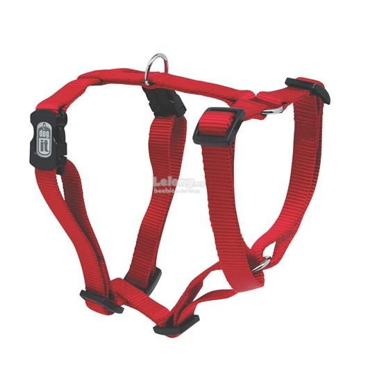 Dogit Adjustable Dog Harness, Red, Medium