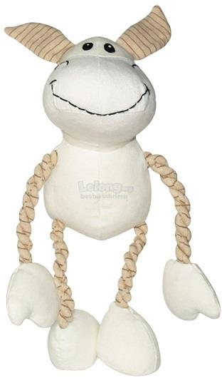 Dogit Eco Terra Toys Natural Canvas and Cotton Dog Toy, Donkey