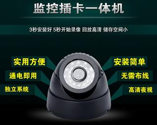 Dome 1/4' CMOS IR CCTV Camera Digital Video Recorder Support TF Card