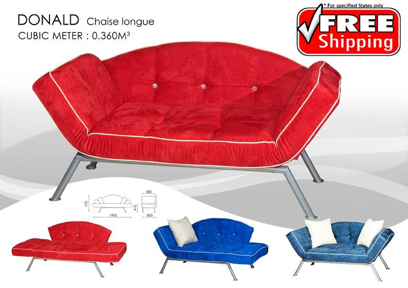 Donald chaise longue modern sofa bed penang end time 9 for Sofa bed penang