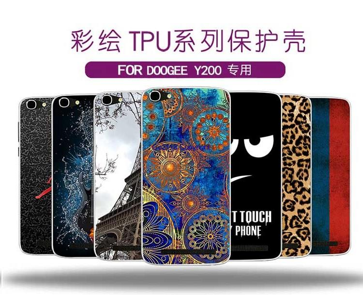 Doogee Y200 Pudding Painting TPU Silicone Soft Back Case Cover Casing