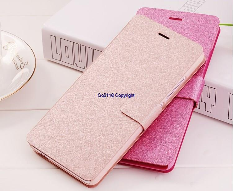 Doogee Y200 Silk Pattern PU Leather Magnetic Flip Case Cover Casing