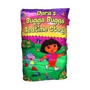 NEW DORA'S BUGGA BUGGA BEDTIME STORIES STORYBOOK PILLOW