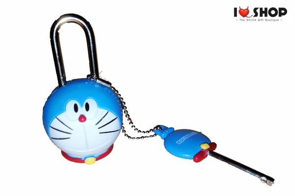 DORAEMON HEAD SHAPE DIARY & LUGGAGE LOCK