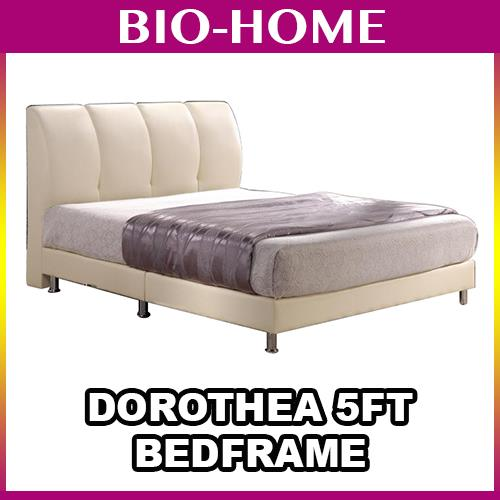 Dorothea 5FT DOUBLE QUEEN KING SIZE BEDFRAME Leather Headboard Divan