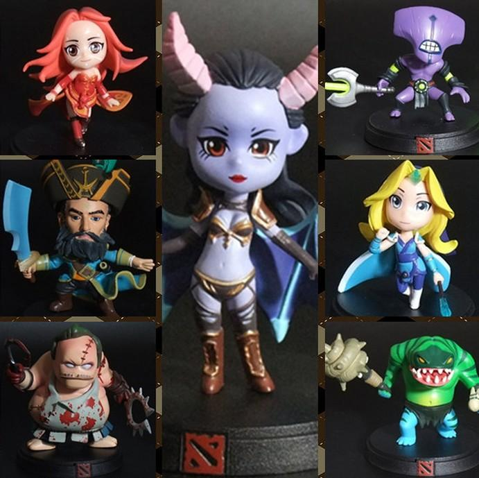 Dota 2 Mini Figurine with Stand and Colour Box