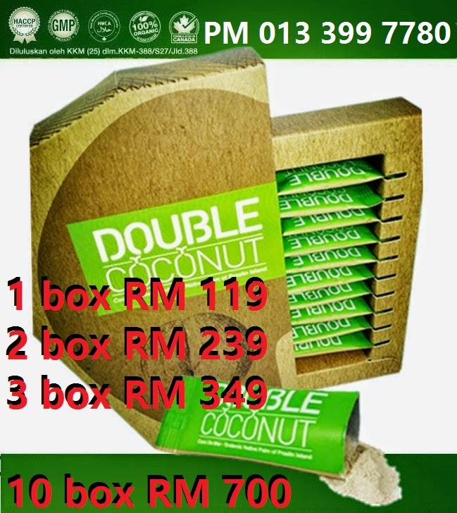 Double Coconut OFFICIAL M'SIA - HALAL & KKM Lulus - 100% ORIGINAL