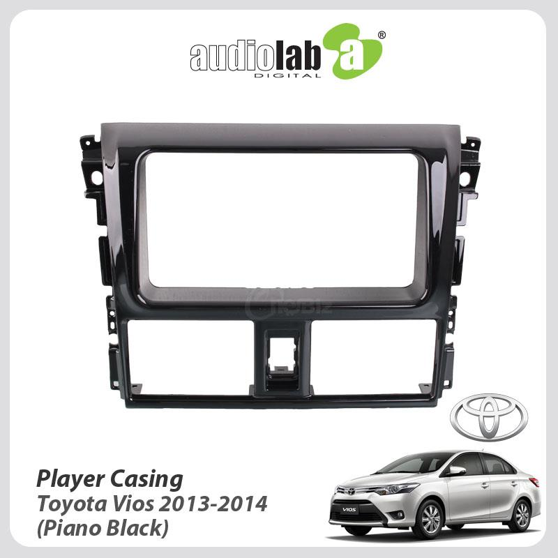 Double Din Car DVD Player Casing For Toyota Vios 2013-14 (Piano Black)