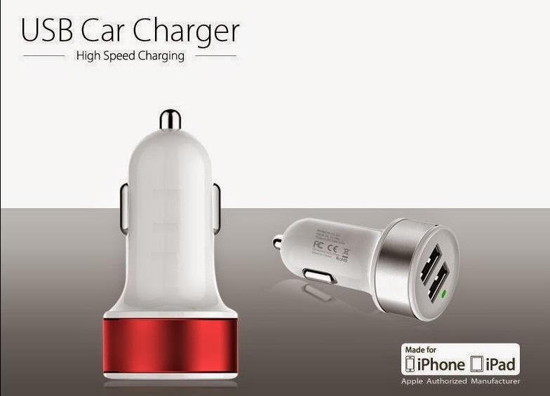Double Dual USB Port Car Charger 2A ,fashion design