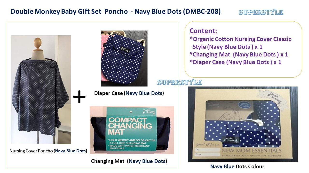Double Monkey Baby Gift Set Poncho (DMBP-215)