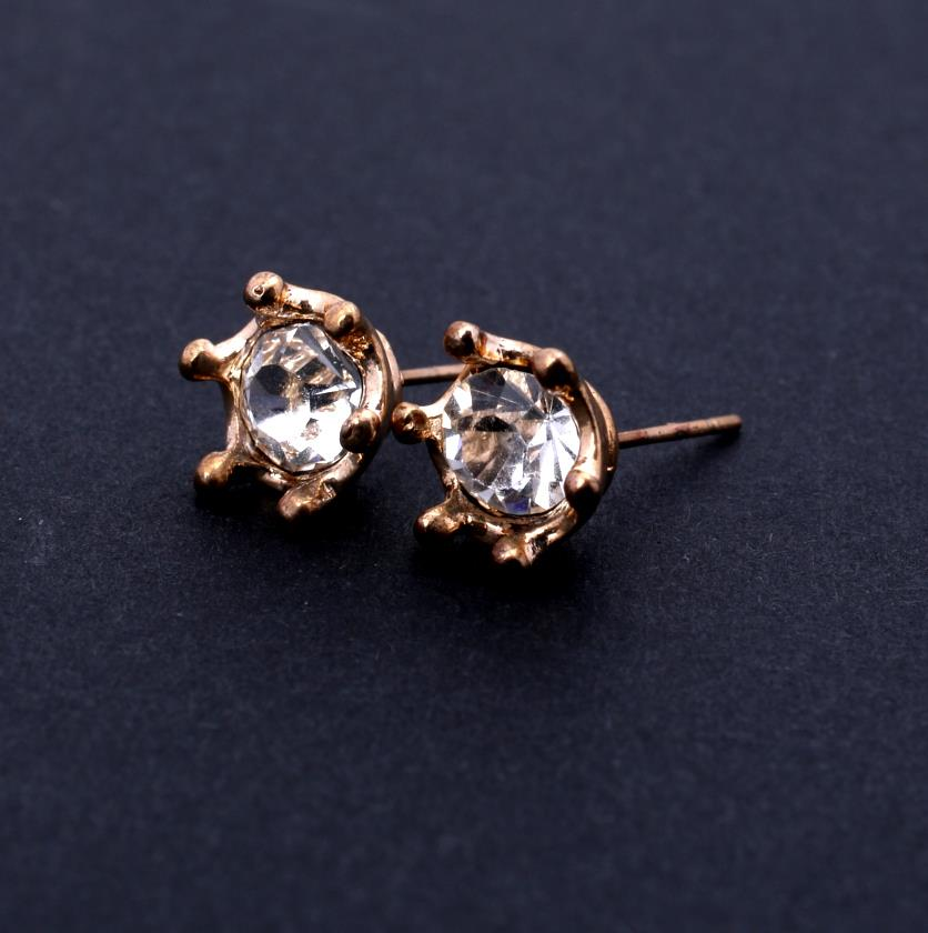 Double-sided Diamond and Ball Earrings