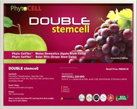 Double Stemcell (Apple & Grape) 1packet x 14Sachets X 1200mg