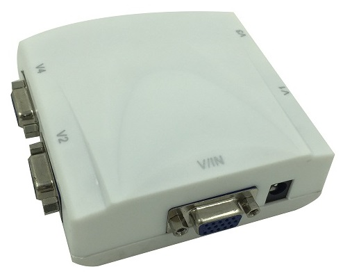 DP-V04 4-port VGA Splitter / Distributor; 250Mhz
