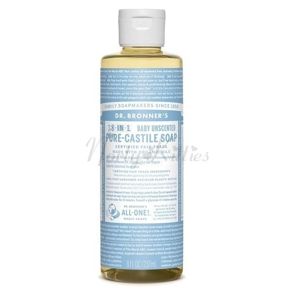 Dr Bronner's, Baby Mild Unscented Pure Castile Soap (237ml)