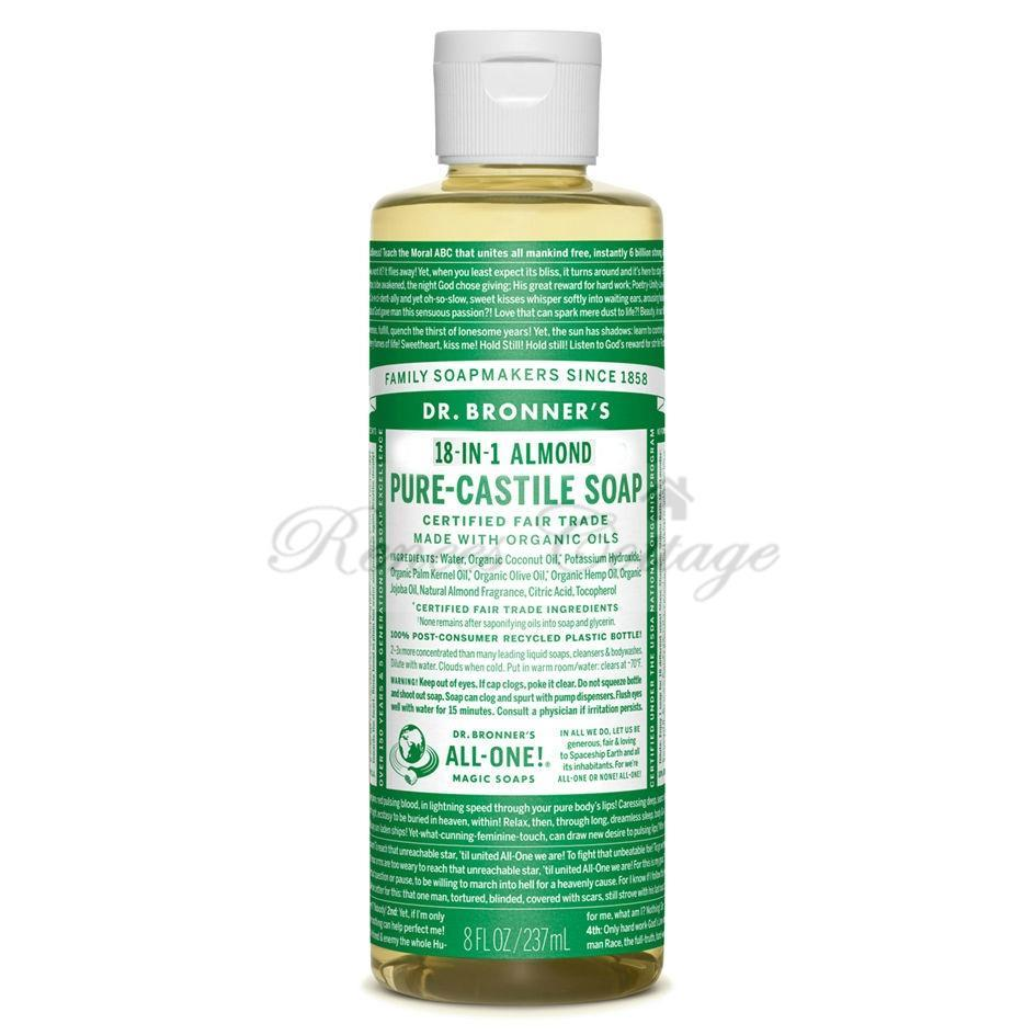Dr. Bronner's Magic Soaps, Almond Liquid Castile Soap (237ml)