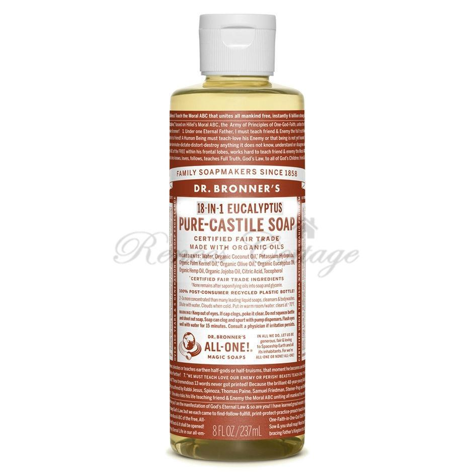 Dr.Bronner's Magic Soaps, Eucalyptus Liquid Castile Soap (237ml)