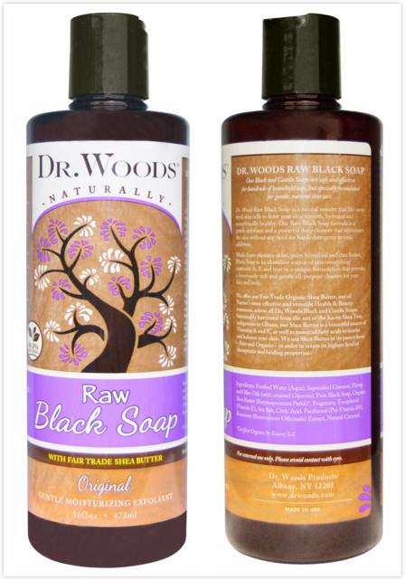 Dr. Woods, Raw Black Soap, Fair Trade Shea Butter (473 ml)