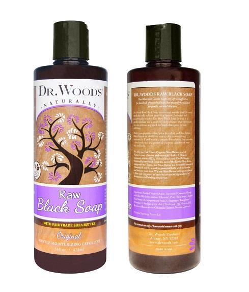 Dr.Woods,Raw Black Soap with Fair Trade Shea Butter, Original (473 ml)