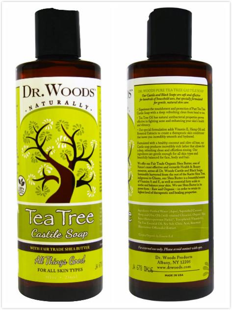 Dr. Woods, Tea Tree Castile Soap with Fair Trade Shea Butter (236ml)