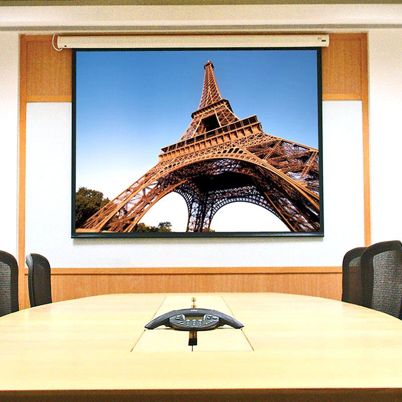 Draper 'Baronet' AV format Motorised Screen(Matt White) - 6' x 6'