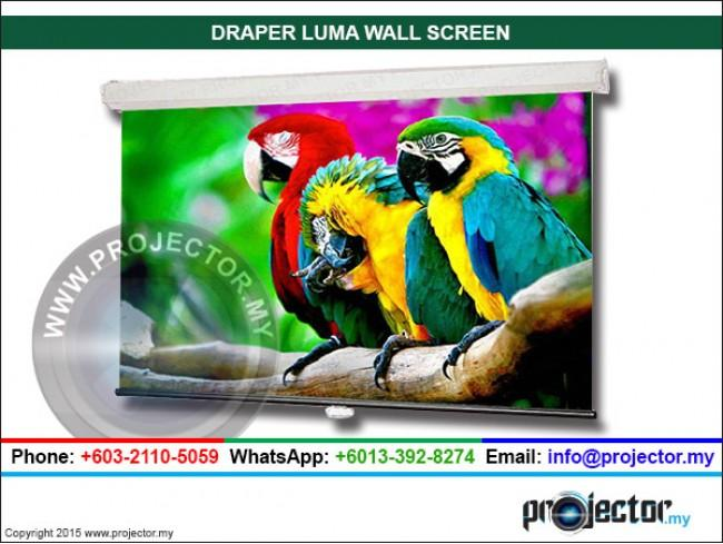 DRAPER LUMA 16:9 HDTV FORMAT WALL SCREEN