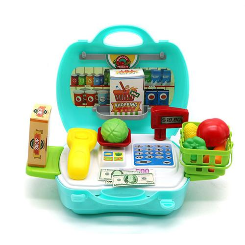 DREAM Travel Grocery 19 pcs Play Set with Pretend & Play Toy Money and