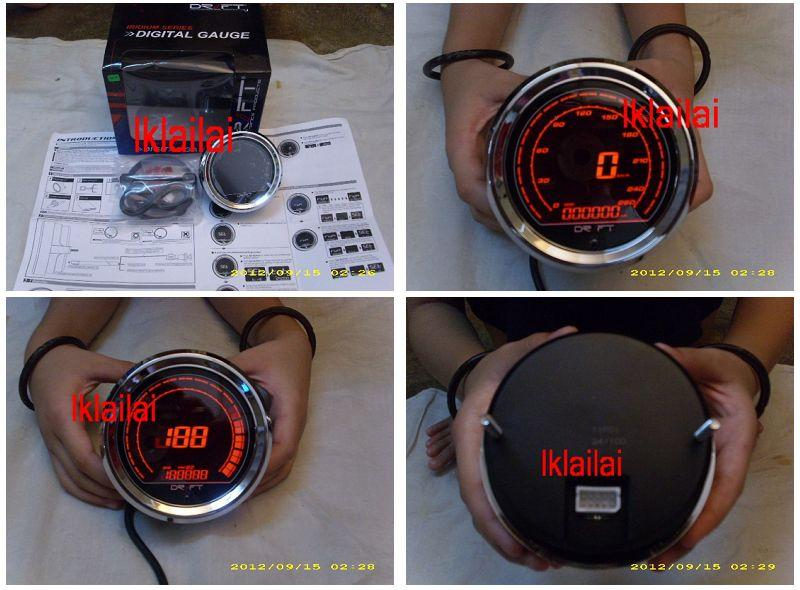 Drift Speedometer - Iridium Red Series 3 3/8