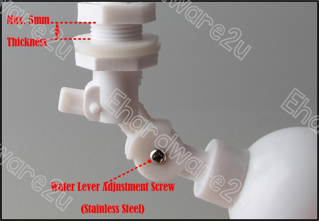 Drinking Water Tank Auto Shut off Mini Float Ball Valve 1/8' (MFV01)