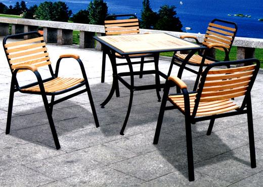 DS8828 Wood/Metal 5pc Patio Set