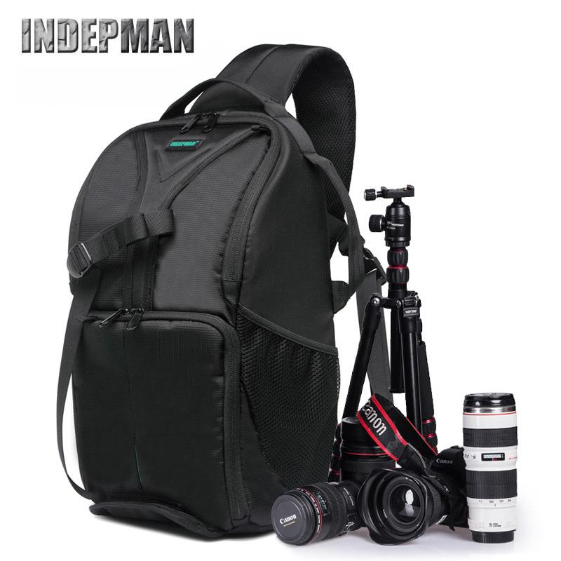 DSLR Camera Bag Backpack Water Shockproof by Indepman (Orange)