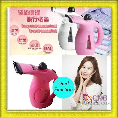 Dual 2 in 1 Portable/Travel Facial and Garment Steamer